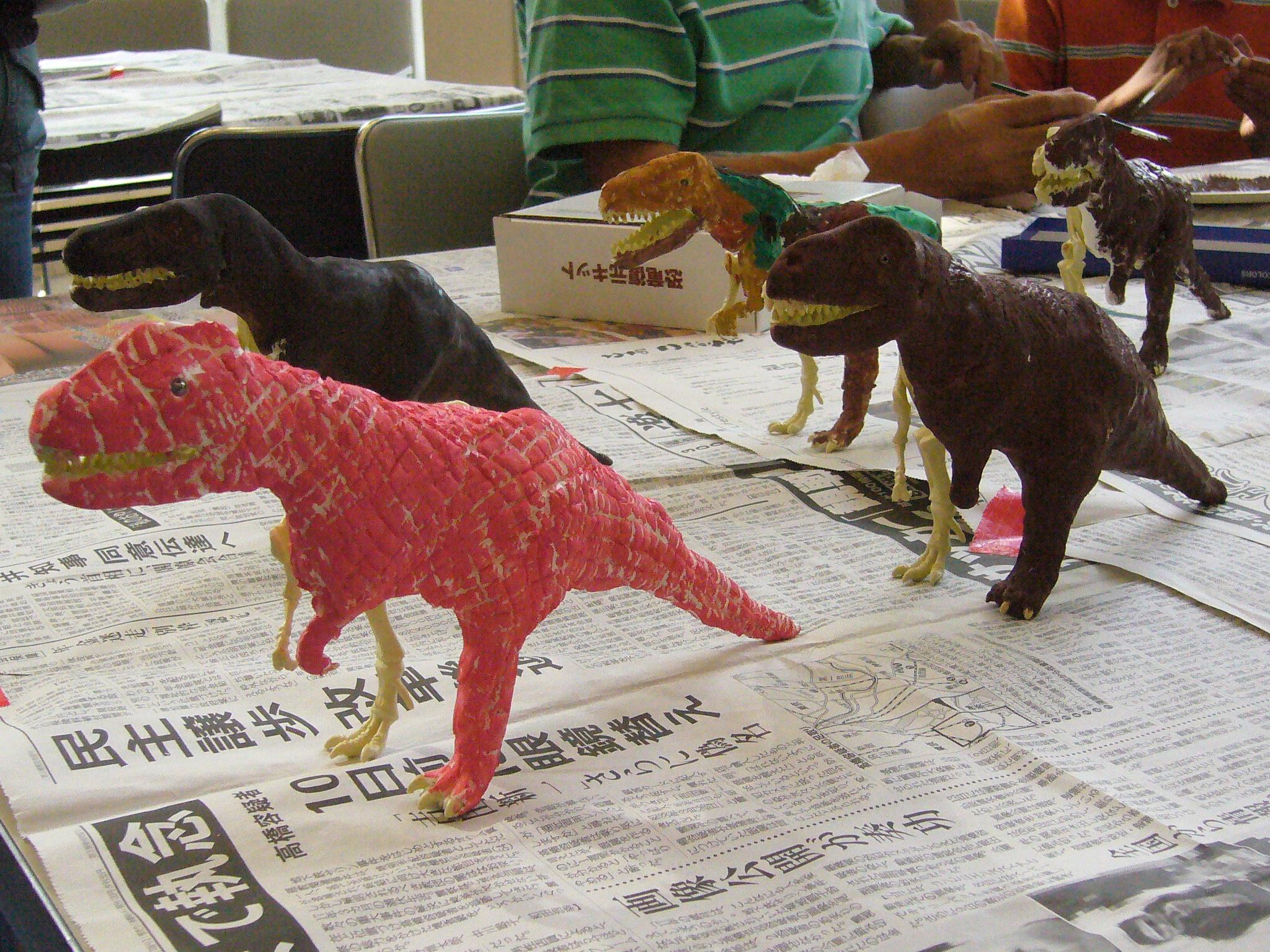 報告・丹波の恐竜ミニレクチャーと恐竜復元模型ワークショップ@兵庫県宝塚市にて